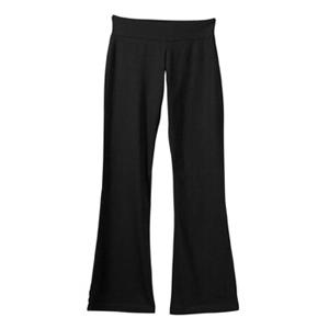 Bella Ladies Cotton/Spandex Yoga Pant Small - Black