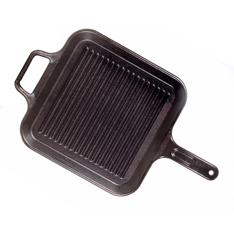 Lodge Pans Pro Logic 12 Inch Square Seasoned Cast Iron Grill Pan - P12SGR3