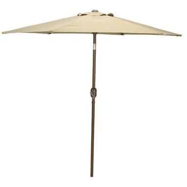 Bond Manufacturing 9 Foot Crank/Tilt Market Umbrella - Taupe