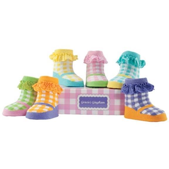 Elegant Baby Organic 6-Pair Sock Set - Gracies Gingham
