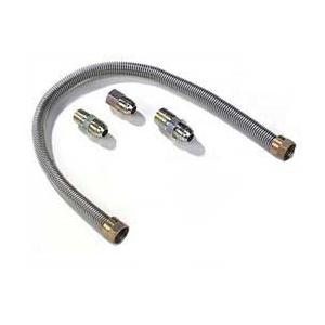 Monessen 12 Inch Stainless Flexible Connector With Fittings