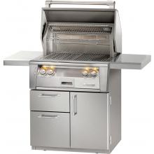 Alfresco ALXE 30-Inch Freestanding Natural Gas Grill On Deluxe Cart With Sear Zone And Rotisserie - ALXE-30SZCD-NG