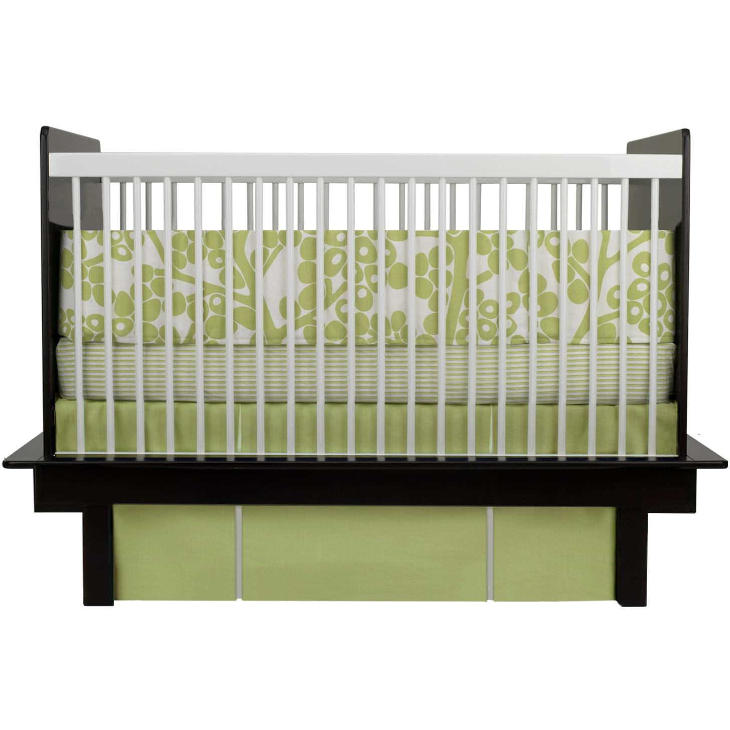 Oilo Crib Sheet - Modern Berries Spring Green