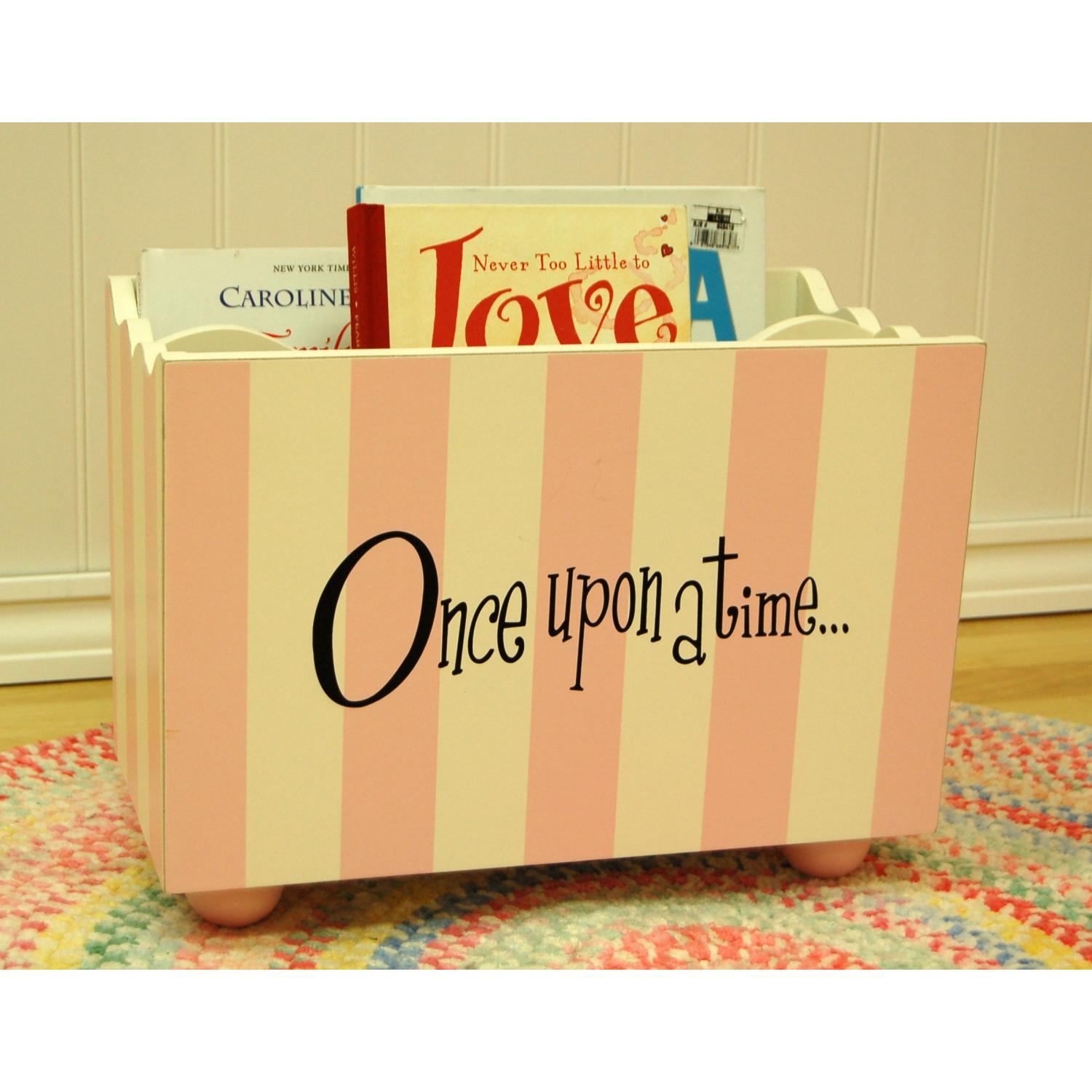 New Arrivals Wooden Bookholder - Pink Stripe