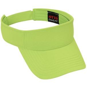 Otto Cap Comfy Cotton Jersey Knit Sun Visor - Lime