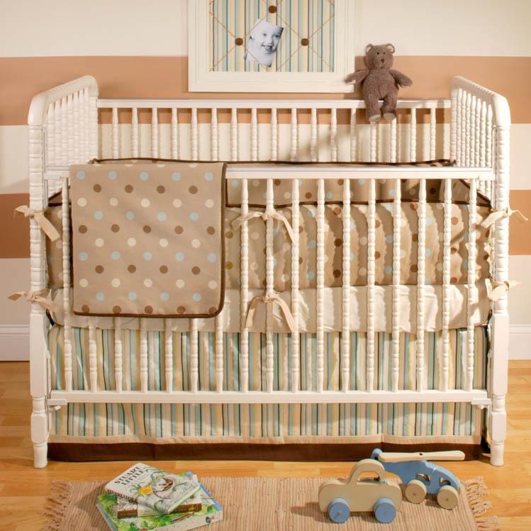 New Arrivals Crib Bumper - Mocha Baby