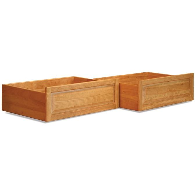 Atlantic Furniture 66005 Raised Panel Bed Drawer Queen Bed/King Bed Natural Maple