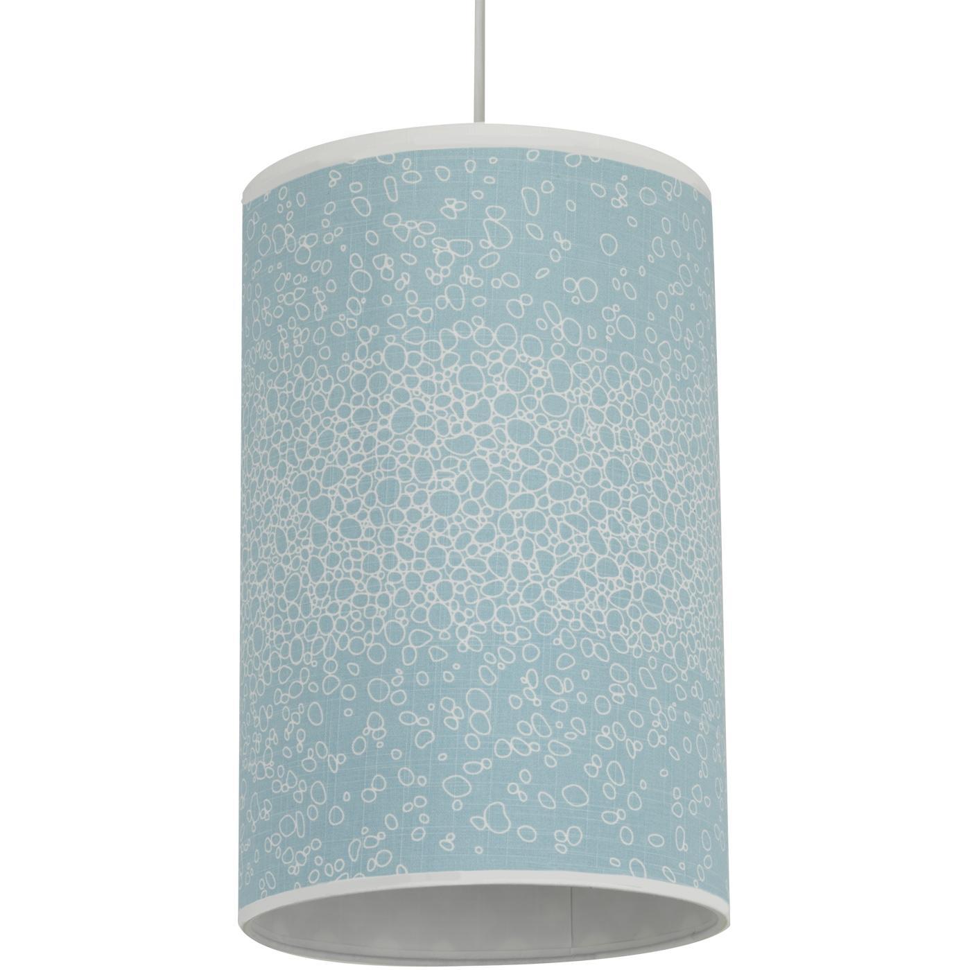 Oilo Cylinder Hanging Lamp - Raindrops Aqua