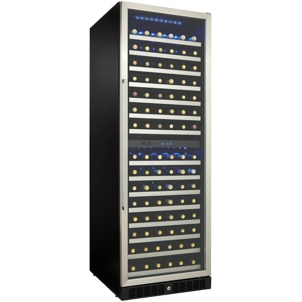 Danby DWC166BLSRH 166 Bottle Built-In Dual Zone Silhouette Wine Cooler - Glass Door / Stainless Steel Trim