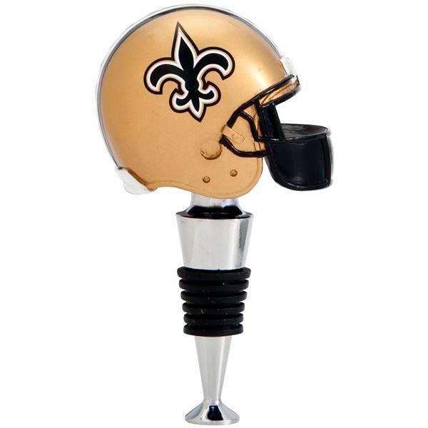 Evergreen Team Helmet Wine Stopper - New Orleans Saints