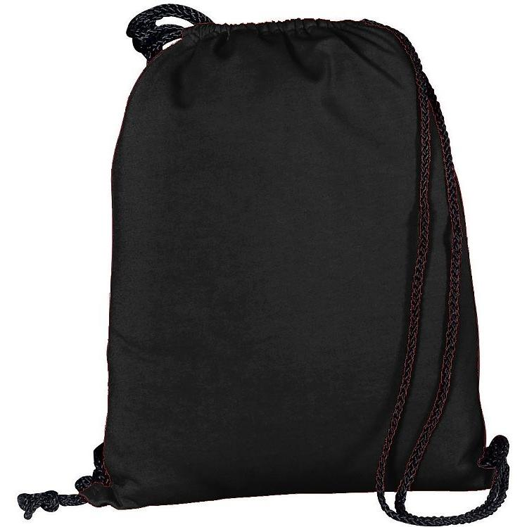 Augusta Athletic Fleece Drawstring Backpack - Black