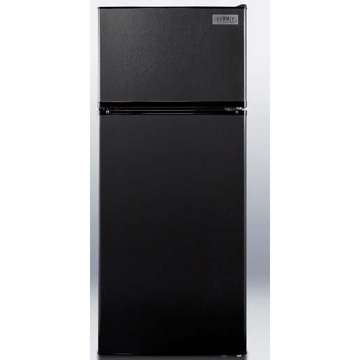 Summit FF1112BLIM 10.3 Cu. Ft. Capacity Refrigerator / Freezer With Ice Maker - Black