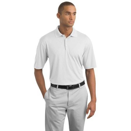 Nike Golf Dri-FIT Cross-Over Texture Polo Shirt Large - White