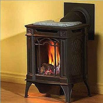 Picture of Napoleon GDS20 Arlington Cast Iron Natural Gas Stove - Majolica Brown