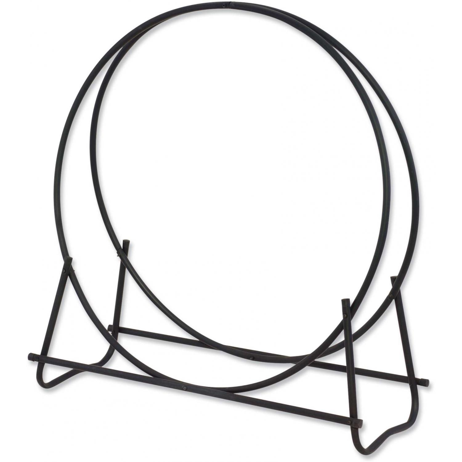 UniFlame 40 Inch Black Tubular Log Hoop