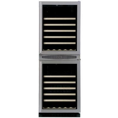 Marvel 66WCM Luxury 90 Bottle Built-In Left Hinge Wine Cooler - Glass Door / Black Trim