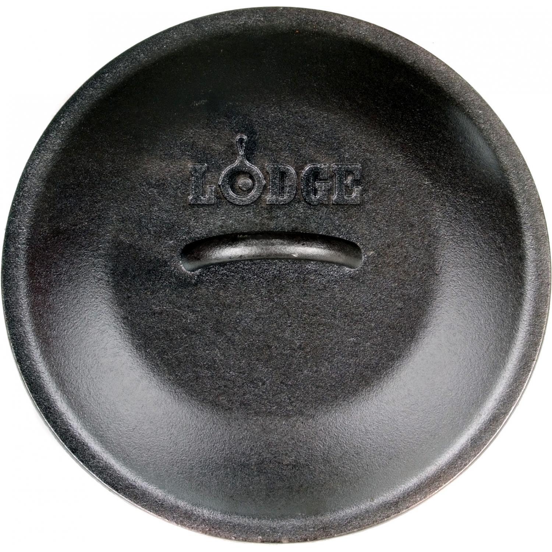 Lodge Lids Seasoned Cast Iron Skillet And Dutch Oven Lid - L8IC3
