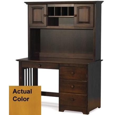 Atlantic Furniture Windsor Desk Caramel Latte W/ Hutch - 6090701