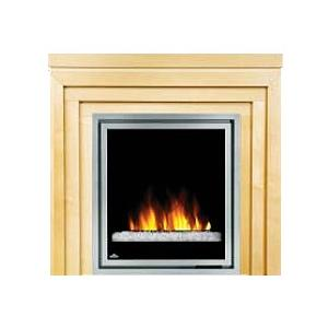 Napoleon EFMM30GC Electric Fireplace With Glass Crystaline Ember Bed / Metro Mantel - Natural