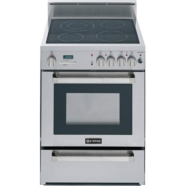 Verona VEFSEE244PSS 24-Inch Self-Cleaning Electric Range - Stainless Steel
