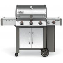Weber Genesis II LX S-340 Freestanding Propane Gas Grill - Stainless Steel