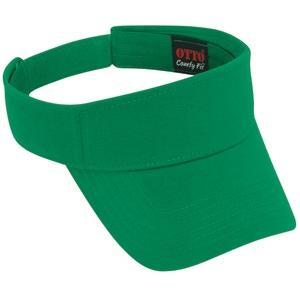 Otto Cap Comfy Cotton Jersey Knit Sun Visor - Kelly