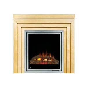 Napoleon EFMM30C Electric Fireplace With Log Set / Metro Mantel - Natural