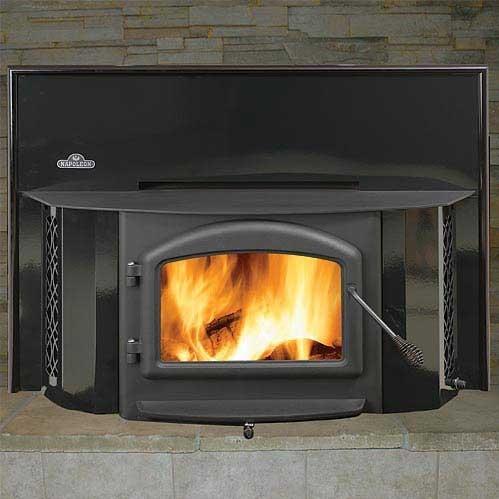 Picture of Napoleon EPI1402K Deluxe 25-Inch Wood Burning Fireplace Insert - Enamel Black