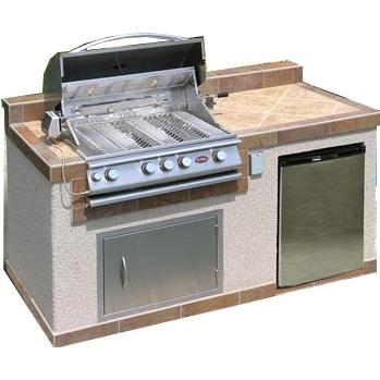 Cal Flame BBQ Island With 32 Inch Cal Flame Propane Gas BBQ Grill