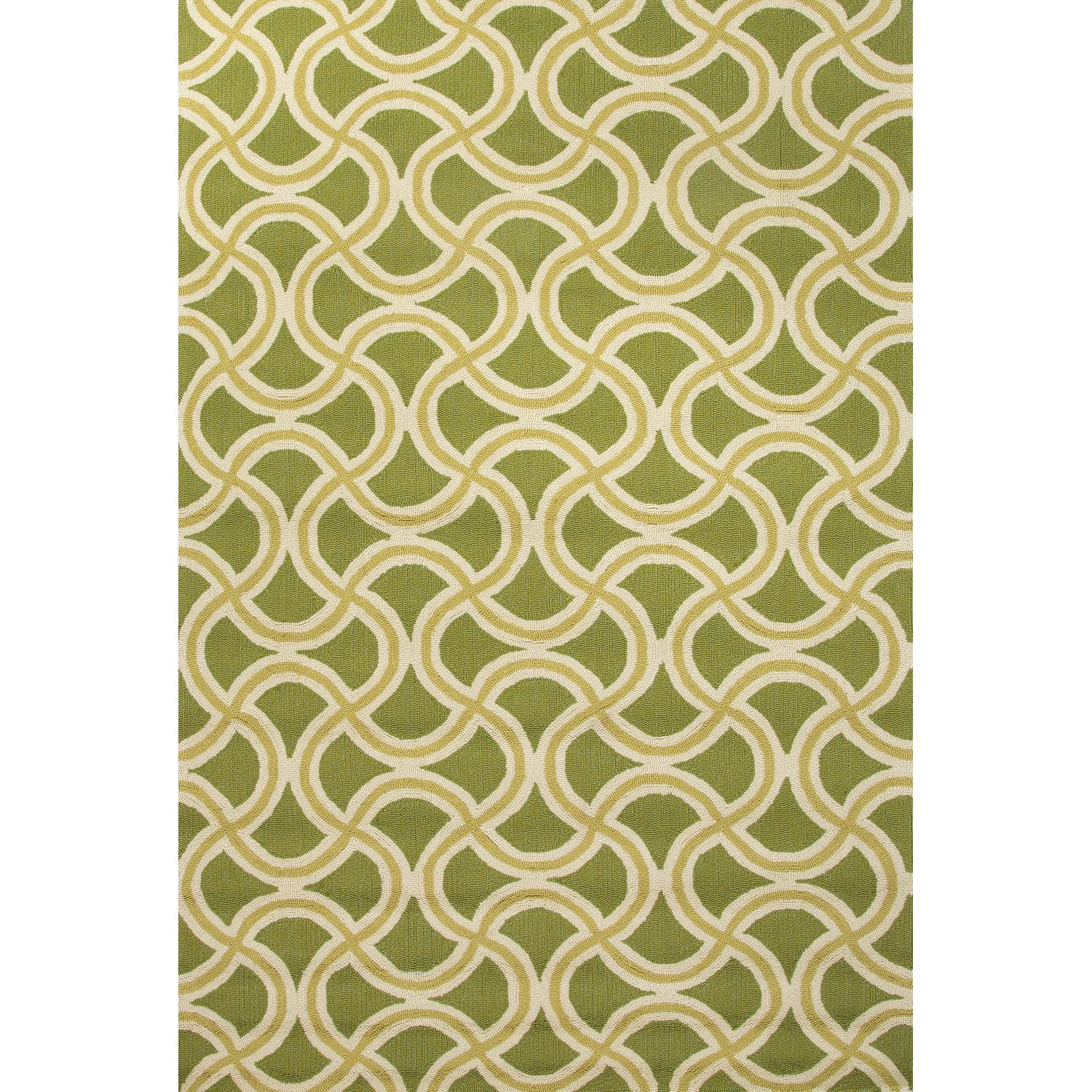 Picture of Jaipur Rugs Barcelona Barbells 2 X 3 Indoor/Outdoor Rug - Green/Yellow