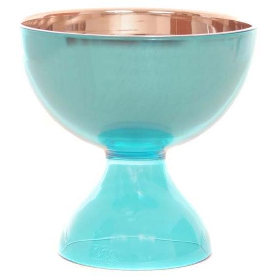 Oggi 2 Piece Acrylic And Stainless Steel Dessert Bowl - AQUA