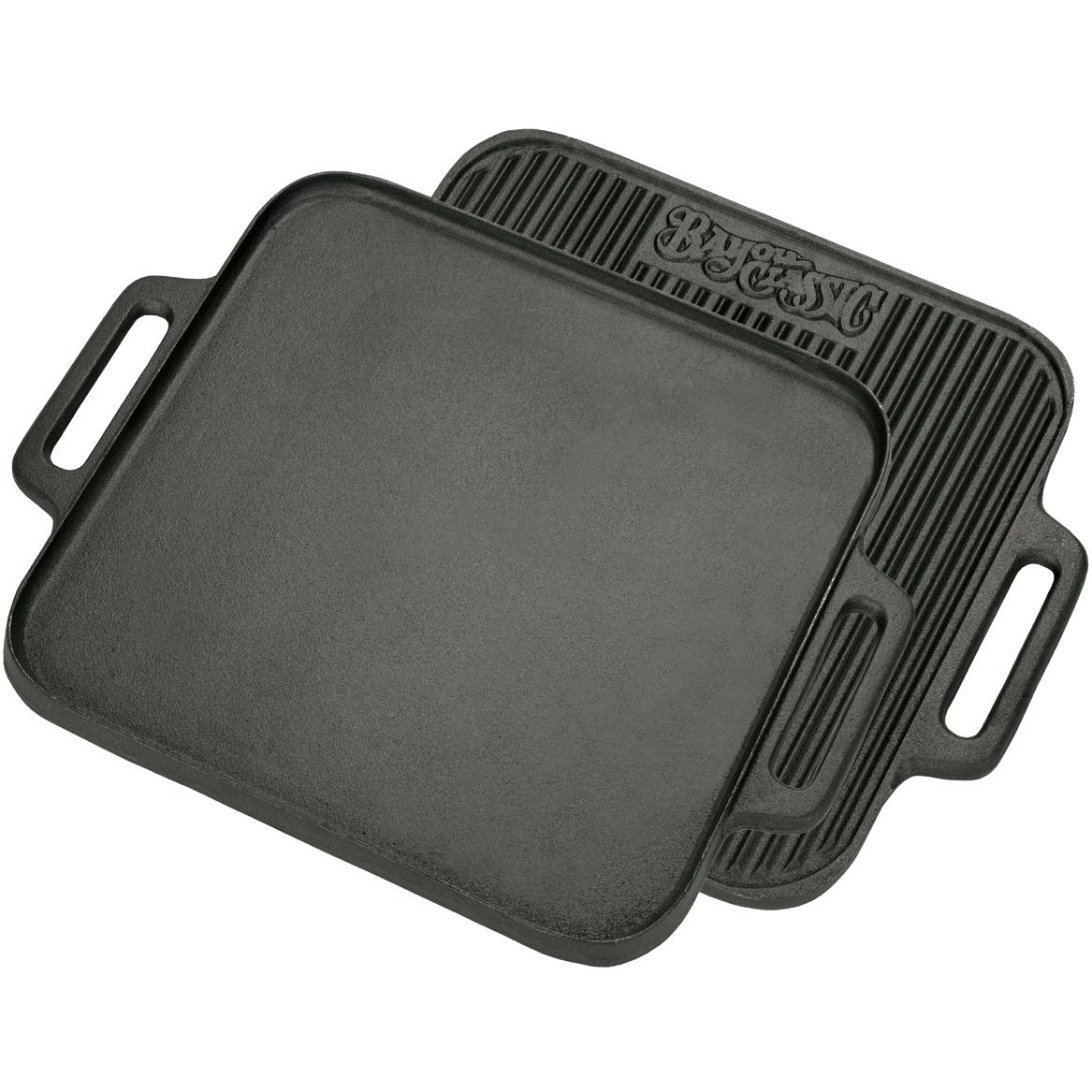 Bayou Classic Griddles Reversible 14 Inch Square Cast Iron Griddle