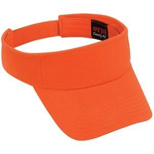 Otto Cap Comfy Cotton Jersey Knit Sun Visor - Orange