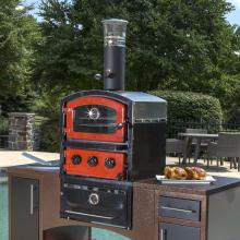 Fornetto Alto 19-Inch Countertop Wood-Fired Outdoor Pizza Oven And Smoker - Brick Red - 82-1004