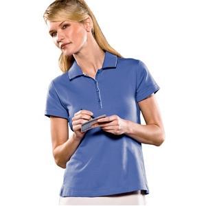 Adidas Golf Ladies ClimaLite Tour Jersey Short Sleeve Polo Shirt 2XL - Gulf/White