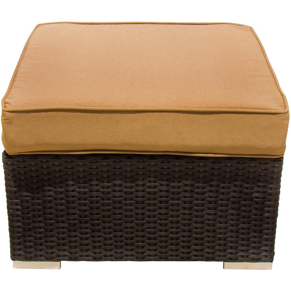 Picture of Avery Island Resin Wicker Small Patio Ottoman By Lakeview Outdoor Designs
