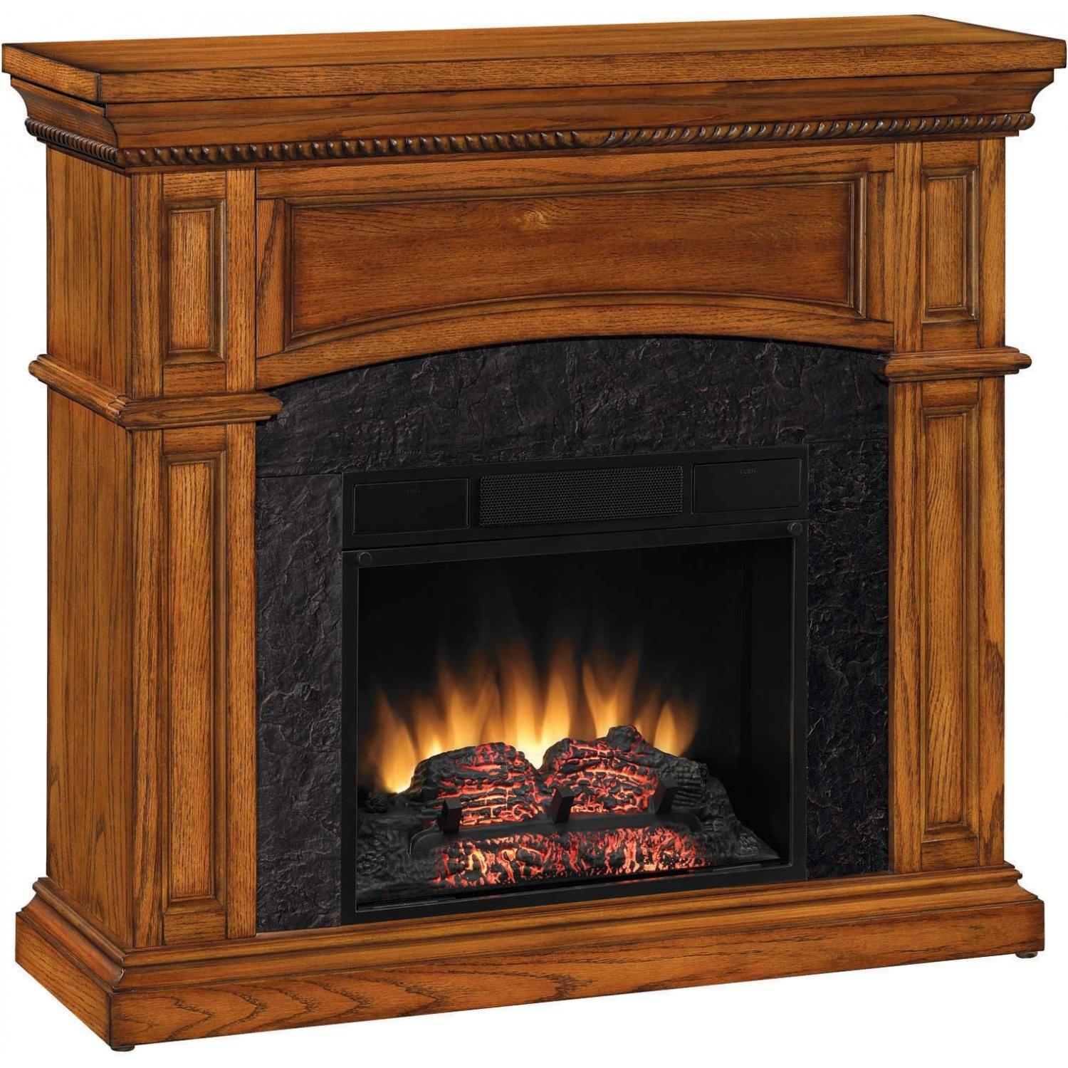 ClassicFlame 18DM1141-O107 Nantucket 18 Inch Dual Use Electric Fireplace - Premium Oak