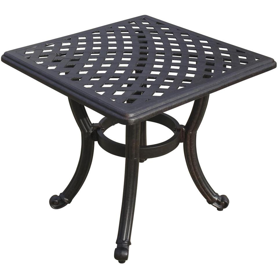 Picture of 21-Inch Square Cast Aluminum Patio End Table By Lakeview Outdoor Designs