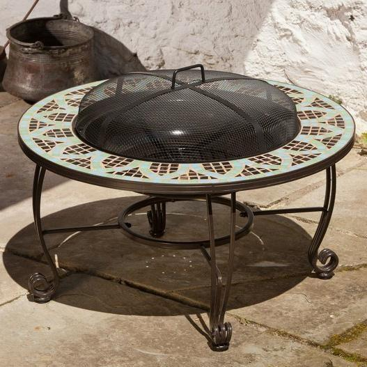 Picture of Alfresco Home Le Mans Mosaic Wood Burning Fire Pit