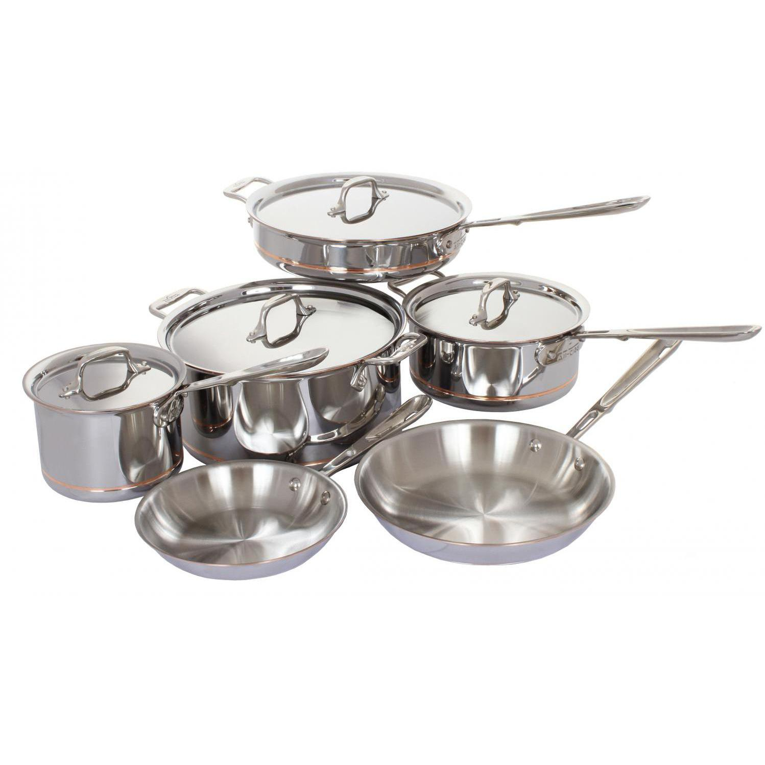 Picture of All-Clad Copper-Core Stainless Steel 10-Piece Cookware Set