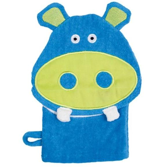 Elegant Baby Hoodorables Bath Mitt - Harvey Hippo