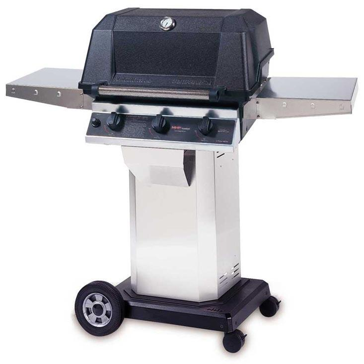 MHP Gas Grills WRG4DD Infrared Natural Gas Grill W/ SearMagic Grids On Stainless Cart