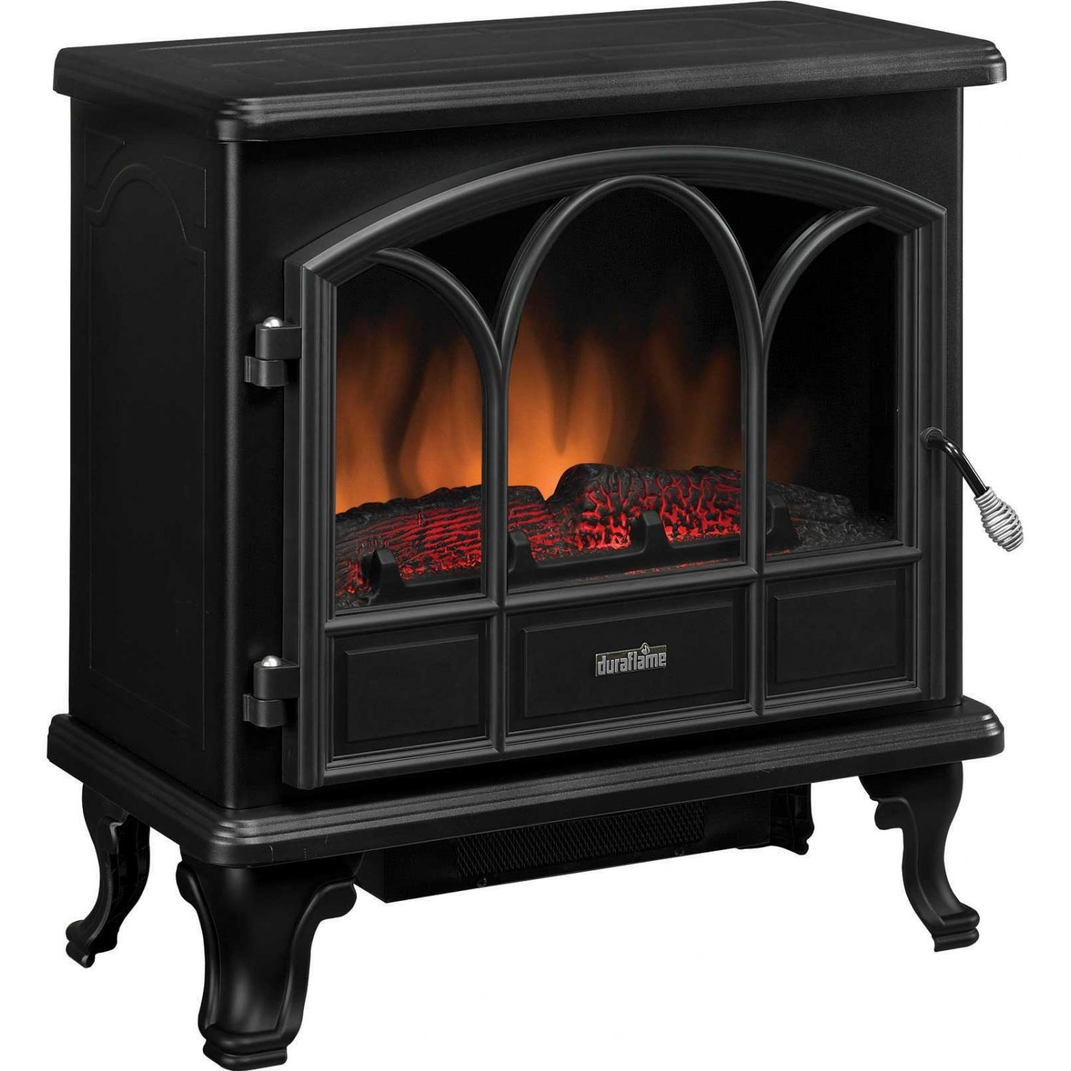 Duraflame DFS-750-1 Large Electric Stove With Heater - Black