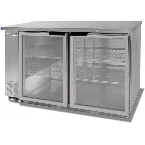Beverage Air BB58G-1-S 23. 7 Cu. Ft. Undercounter Refrigerator - Glass Doors / Stainless Steel Cabinet