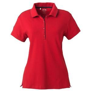 Adidas Golf Ladies ClimaLite Tour Jersey Short Sleeve Polo Shirt 2XL - University Red/Black