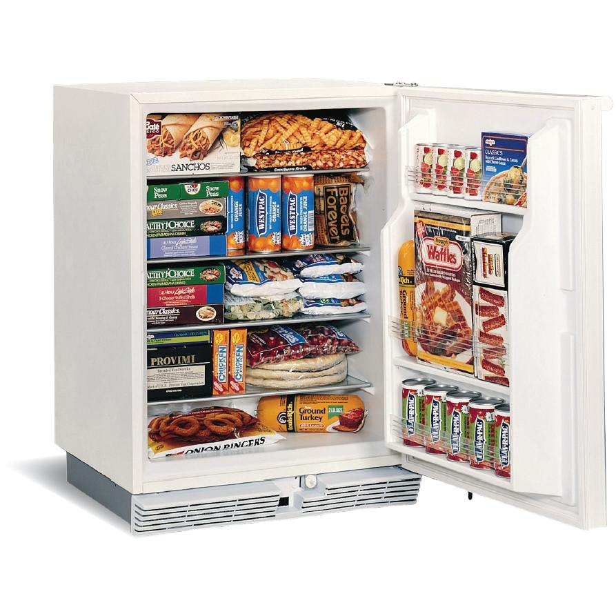 U-Line 75FWH-13 5.7 Cu. Ft. Capacity Marine / RV Compact Lockable Freezer - White