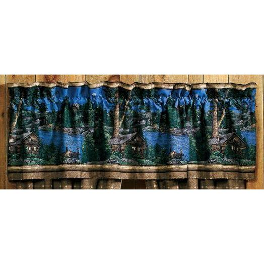Blue Ridge Trading Window Valance - Cabin Retreat