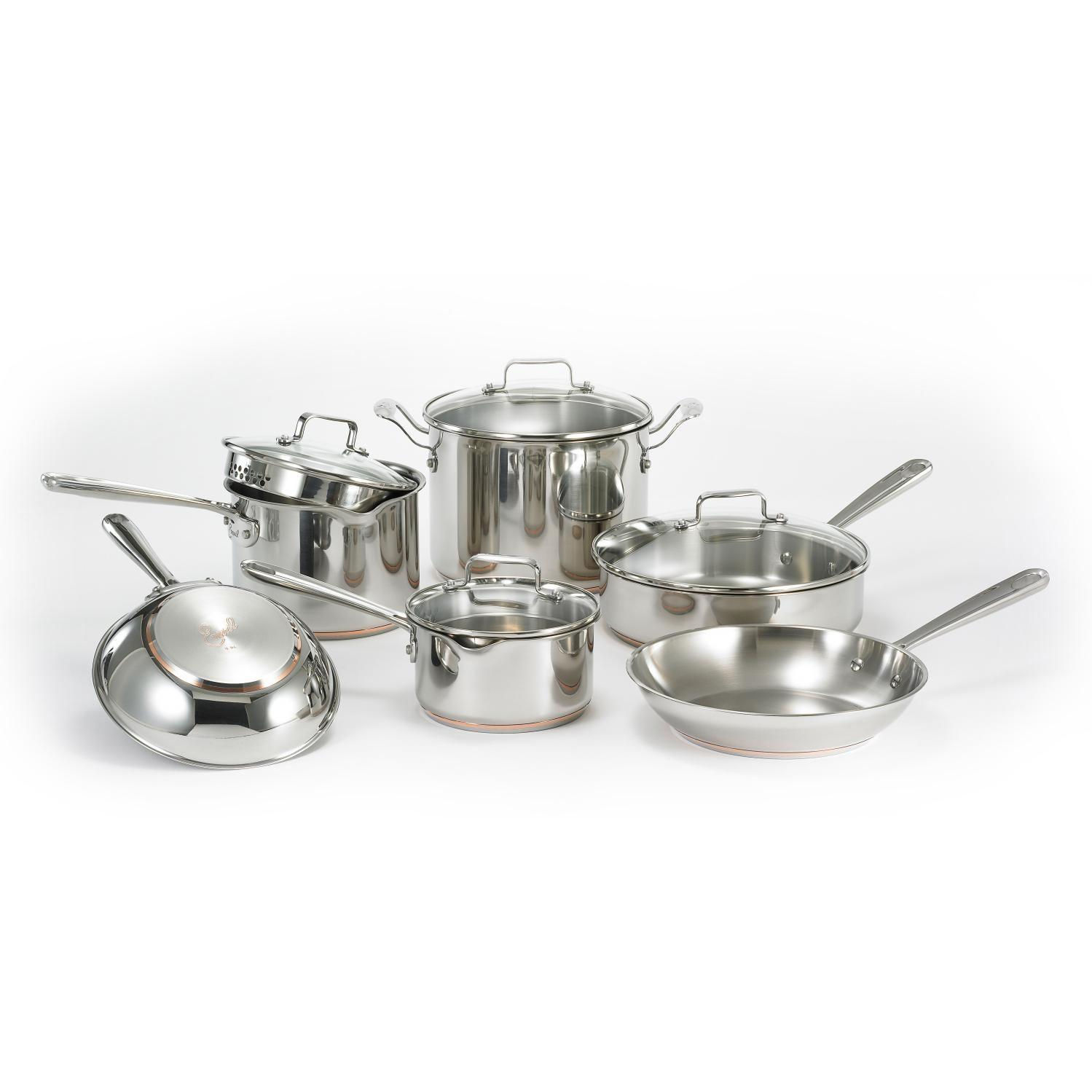 Emerilware By All-Clad 10-Piece Stainless Cookware Set - E937SA64