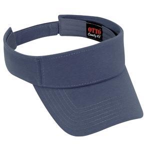 Otto Cap Comfy Cotton Jersey Knit Sun Visor - Indigo Blue