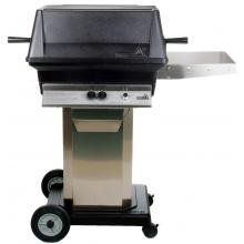 PGS A30 Cast Aluminum Freestanding Natural Gas Grill On Stainless Steel Portable Pedestal Base